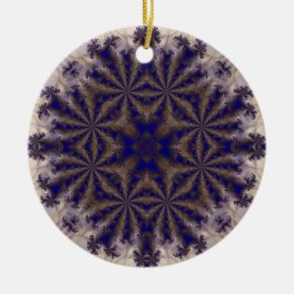 Fractal 688 adorno redondo de cerámica