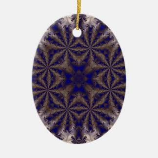 Fractal 688 adorno ovalado de cerámica