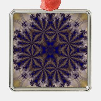 Fractal 688 adorno cuadrado plateado