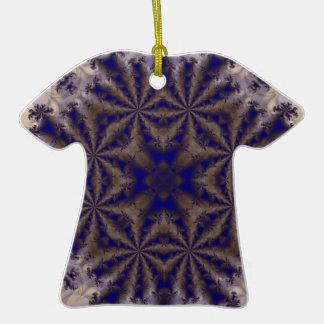 Fractal 688 adorno de cerámica en forma de camiseta