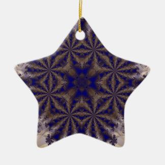 Fractal 688 adorno de cerámica en forma de estrella