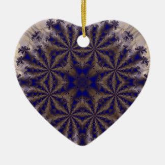 Fractal 688 adorno de cerámica en forma de corazón