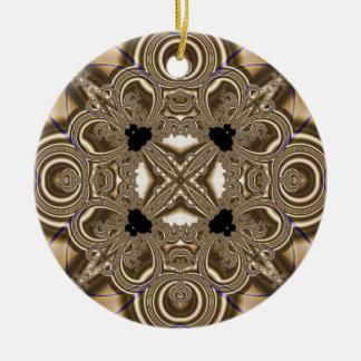 Fractal 711 adorno navideño redondo de cerámica