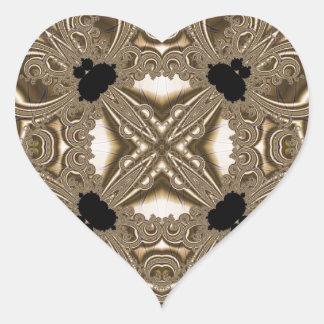 Fractal 711 pegatina en forma de corazón