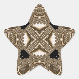 Fractal 711 pegatina en forma de estrella