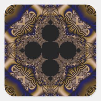 Fractal 715 square sticker