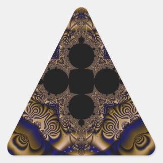Fractal 715 triangle sticker