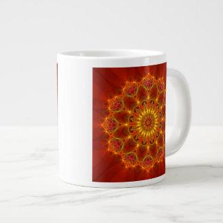Fractal 81 an Autumn Colors Kaleidoscope Product Large Coffee Mug
