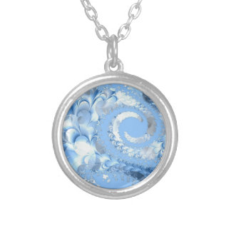 fractal-94223_1920 fractal spiral abstract backgro personalized necklace