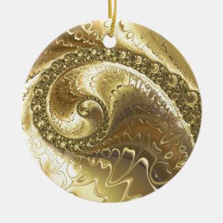 fractal-952 ceramic ornament