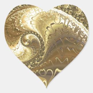 fractal-952 pegatina en forma de corazón