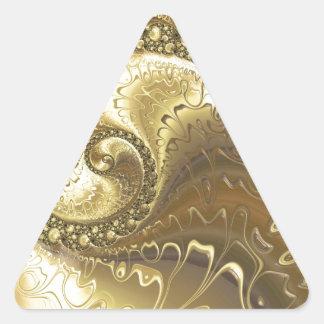 fractal-952 triangle sticker