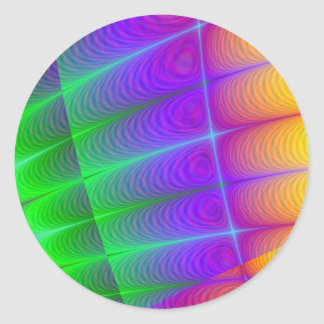 Fractal AAB Round Stickers
