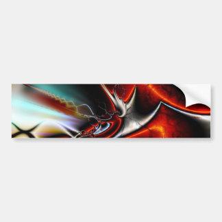 Fractal Abstract Bumper Sticker