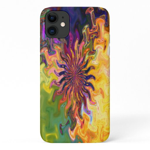 Fractal Abstract Flower iPhone 11 Case