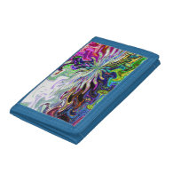 Fractal Abstract Flower Trifold Wallet