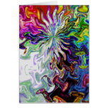 Fractal Abstract Flower Two Card