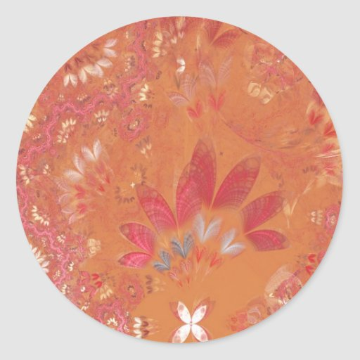 Fractal - Abstract - Japanese motif Classic Round Sticker