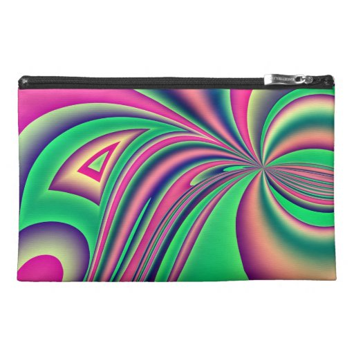 Fractal abstract pretty wristlet