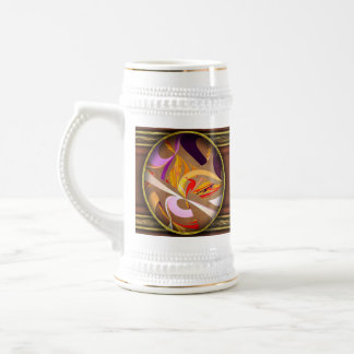 Fractal - Abstract - Space Time 18 Oz Beer Stein