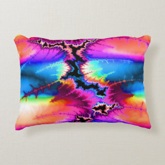 Fractal Abstract Summer Storm Accent Pillow