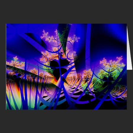 Fractal Abstract The Jungle Card