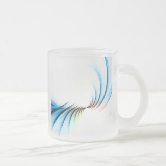 Fractal Abstract Vortex Layout Frosted Glass Coffee Mug