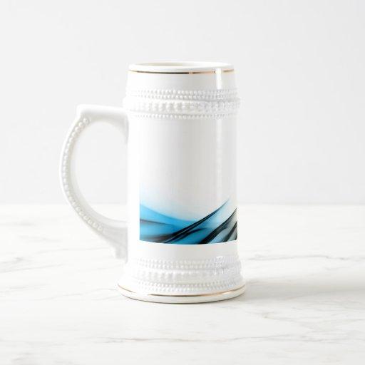 Fractal Abstract Vortex Layout Coffee Mug