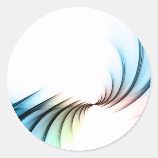 Fractal Abstract Vortex Layout Classic Round Sticker