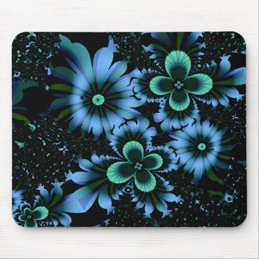 Fractal abstracto azul de la bella arte de las alfombrilla de raton