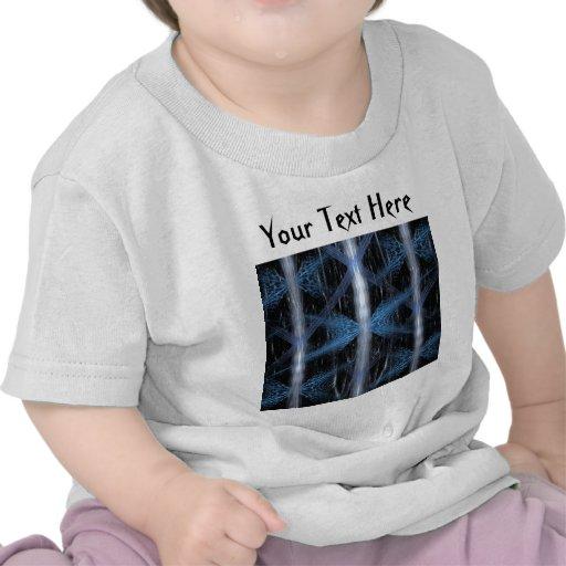 Fractal abstracto azul y negro Art. del diseño Camisetas