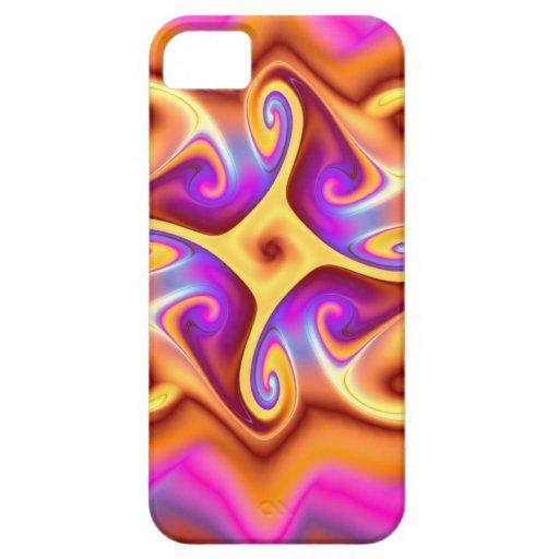 Fractal abstracto colorido iPhone 5 fundas