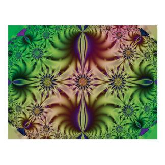 Fractal abstracto de la flor postales