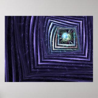 Fractal abstracto de la ventana póster