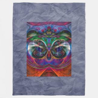 Fractal abstracto del Apophysis - búho + su Manta De Forro Polar