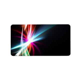 Fractal abstracto del arco iris etiquetas de dirección