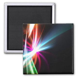 Fractal abstracto del arco iris imán cuadrado