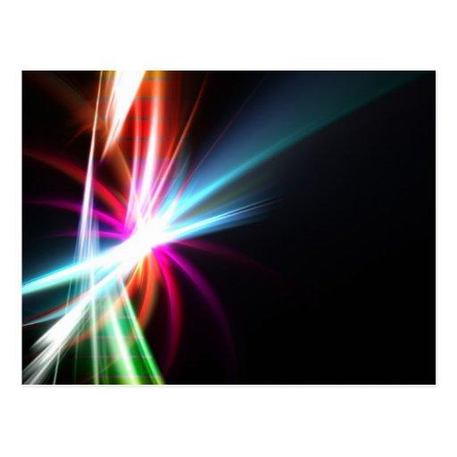 Fractal abstracto del arco iris postal