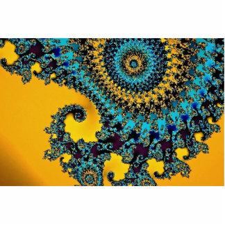 Fractal abstracto del carrusel esculturas fotográficas