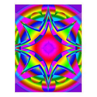 Fractal abstracto del diseño geométrico postales