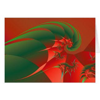 Fractal abstracto fresco de la bella arte del tarjeta pequeña