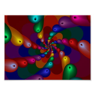 Fractal abstracto impresiones
