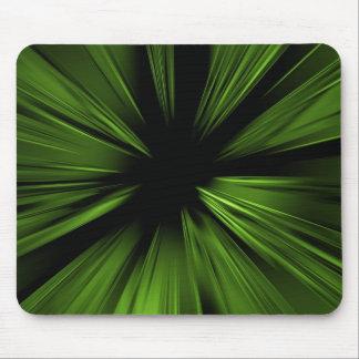 Fractal abstracto verde alfombrillas de raton