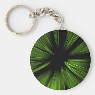 Fractal abstracto verde llavero personalizado
