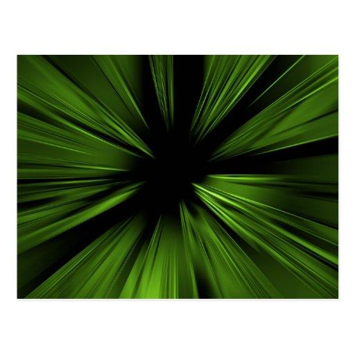 Fractal abstracto verde - postal