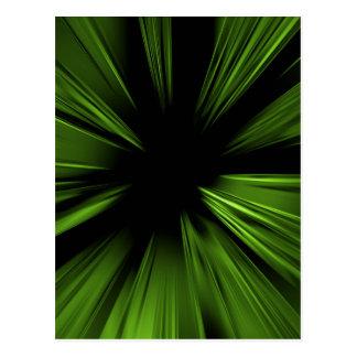 Fractal abstracto verde tarjetas postales