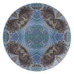 Fractal acolchado 4 del mosaico platos de comidas