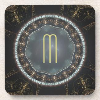 Fractal adornado metálico de Steampunk con el Posavaso
