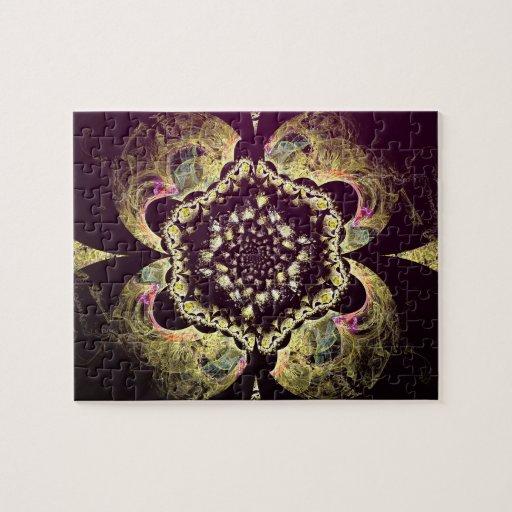 Fractal - adorno floral persa puzzles