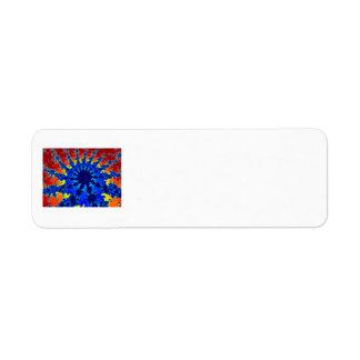 fractal agradable de la estrella azul del colorful etiqueta de remitente
